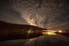 Cloudy night in Faskrudsfjordur (*Jonina*) Tags: longexposure sky