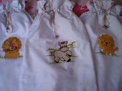 Saquinhos para Beb (Atelier Mimos da Fau) Tags: beb pintura aplicao saquinhos patchcolagem patchaplique