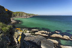 Church cove (Simon Bone Photography) Tags: blue sea seascape green beach coast sand cornwall shoreline cliffs lizard coastal coastline torquoise beachscape churchcove canonef1740mmlf4 canoneos5dmkii wwwsimonbonephotographycouk