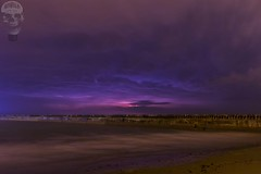 Looming storm upon the sea (John Insipidus) Tags: longexposure storm wall clouds canon shore 7d newhaven lightning thunder