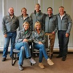 BC Alpine Board of Directors (back row left to right) Bruce Holliday, Mark Schwenck, Hugh MacNaught, Roger Carry, John Rea (front row left to right) Dee Dee Haight-Arn, Karen Wells; (missing Mike Giannelli)