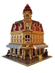 Tan Cafe Corner - Frontside (DutchTreatNL) Tags: corner cafe lego 10182