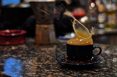 Coffee Splash (Kennedy Velikonja) Tags: winter coffee warm drink splash capture slowmotion drinksplash coffeesplash