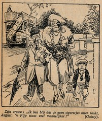 Pipe is more masculin cartoon 1923