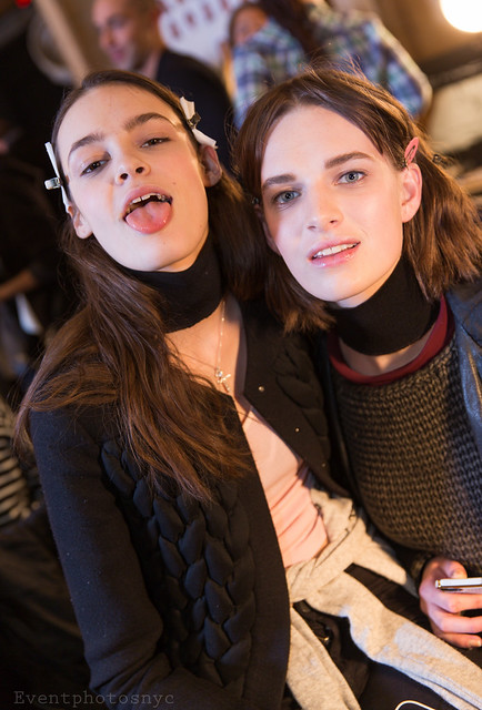 models backstage proenzaschouler nyfw kremiotashliyska ashleighgood