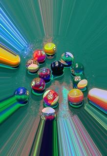 #CrazyCamera pool balls