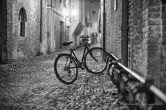 Nightscapes, Ferrara {explored} (jev) Tags: afterdak leicam9 noctiluxm50mmf095asph asph italy leica night noctilux bicycle bike cycle ferrara ghetto jewish landtransportation nightscapes nocti quater rangefinder transport transportation leicaimages flickrfriday