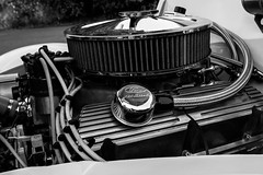 ford engin (dannymarchant) Tags: new old light bw black classic ford lines car nw open pipes filter wires custom vantage engin vitage whaite vichle