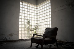 Chair with nature light. (Ryansly) Tags: lighting zeiss hongkong chair sony ruin kowloon a7 carlzeiss ze28