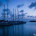 Sailboats at Dusk