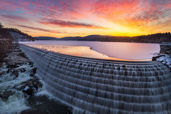 A Fine Morning (Mike Orso) Tags: longexposure travel winter light sky snow ny newyork cold color reflection ice water metal sunrise print landscape outdoors photography photo waterfall scenery gallery image cloudy dam fineart stock scenic picture reservoir canvas license cascade newcrotondam crotononthehudson mikeorso