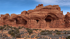 Arches National Park - Double Arch (renedrivers) Tags: winter southwest utah nationalpark desert arches moab archesnationalpark doublearch americansouthwest renedrivers rrnature rchan415