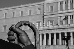 reportage 19.02.2014 (spirofoto) Tags: old greek hand farmers protest parliament athens greece farmer protesting crisis 2014   spirofoto