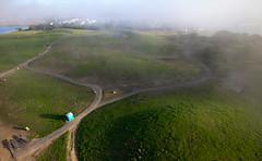Solar Calendar, Berkeley Waterfront (KAP Cris) Tags: california park fog berkeley unitedstates cesarchavez kap kiteaerialphotography eosm solarcalendar