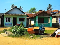 Houses in fishing village, Vizhinjam, India (fam_nordstrom) Tags: india kerala indien 2014 bahrat
