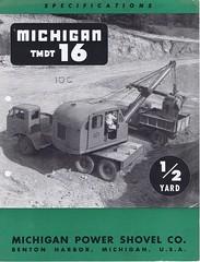 Michigan TMDT 16 C1960 (Runabout63) Tags: michigan machinery brochure excavator earthmoving
