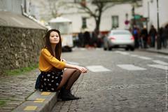 Fin d'hiver  Montmartre (L'inspiration vient en expirant) Tags: world paris france colors fashion yellow photography model hiver skirt montmartre isabelle jupe mode