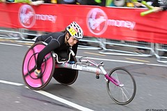 Jade Jones, 9th in Women's Wheelchair (Jeff G Photo - 2m+ views! - jeffgphoto@outlook.com) Tags: marathon running runners runner canarywharf londonmarathon jadejones londonmarathon2014