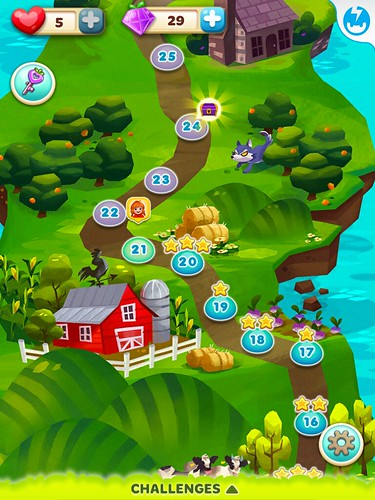 Fruit Splash Mania Level Selection: screenshots, UI