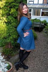 Oasis Denim Scalloped Collar Dress (laurenella1990) Tags: floral dress olivia watch oasis denim parlour collar burton scalloped
