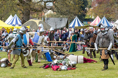 [2014-04-19@15.27.45a] (Untempered Photography) Tags: history costume fight helmet battle medieval weapon knight shield combat armour reenactment skirmish combatant chainmail spear canonef50mmf14 perioddress polearm platearmour gambeson poleweapon mailarmour untemperedeye canoneos5dmkiii untemperedeyephotography glastonburymedievalfayre2014