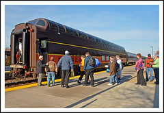 Boarding 'Scenic View' in Naperville (sjb4photos) Tags: illinois naperville alltypesoftransport scenicviewdome
