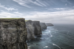 Cliffs of Moher (Gareth Wray - 13 Million Views, Thank You) Tags: ocean county ireland sunset sea summer vacation sky irish sun holiday seascape tower galway beach nature parish set clouds strand lens wonder coast sand nikon rocks europe clare day waves photographer natural cloudy head horizon doolin scenic visit tourist cliffs atlantic granite burren hd geology nikkor scape gareth hdr moher wray liscannor strabane tonemapped cliffscape 1024mm cloghaun d5300 o'brien's knockardakin hdfox
