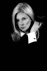 theresa (Marlen Neufeld Fotografie) Tags: portrait blackandwhite bw fashion female studio model femalemodel freckles blondehair sommersprossen