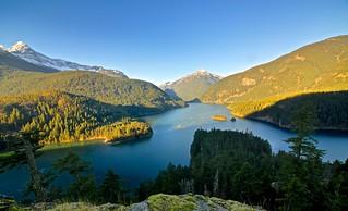 Diablo Lake in the morning
