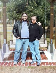 Jason and Mikey (Terry Christian Photo) Tags: louisiana kodak lakeshoredrive 4x5 mandeville 160vc tachihara zonevi flexicolor