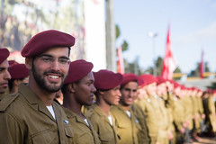 Beret Receiving Ceremony at the Ammunition Hill (Israel Defense Forces) Tags: red army israel military jerusalem ceremony soldiers ammunition commander idf paratroopers graduationceremony israeldefenseforces paratroopersbrigade