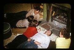 ms 1943-54 AB-88 (ndpa / s. lundeen, archivist) Tags: newyork color film 35mm fireplace nick relaxing slide upstate 1940s drinks 1950s syracuse upstatenewyork kodachrome socializing ellison youngpeople dewolf youngwomen youngmen nickdewolf photographbynickdewolf hankellison locationunidentified