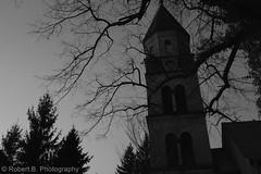 Friedhofs Kirche (Robert.B. Photography) Tags: sunset sun tree berlin church nature landscape sonnenuntergang natur kirche shrub landschaft sonne baum strauch