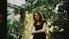 untitled (Esben Bg) Tags: sun film girl analog 35mm canon copenhagen garden eos warm kodak grain scan analogue portra kbenhavn endoffilm canonscan 1v 8800f