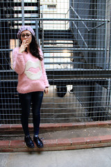 Just fuck it off - 42/365 (Elena 'Lenny' Lentini) Tags: pink white black hot girl hat project hair glasses weird sweater shoes university candy d cigarette smoke rosa lenny curly elena 365 angelo ghetto miriam violent fumo giggs dangelo fumare sigaretta maglione lentini 365project elenalentini elen95 lennyel lennygne miriamdangelo