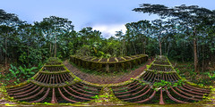 Guyane bagne des Annamites (muscapix) Tags: panorama forest pano 360 ruine prison jail foret qtvr panoramique vestige guyane bagne