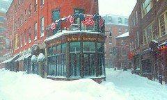 Bell in Hand Tavern (toprated92) Tags: city winter snow boston bar buildings pub downtown massachusetts tavern mass haymarket fanuielhall