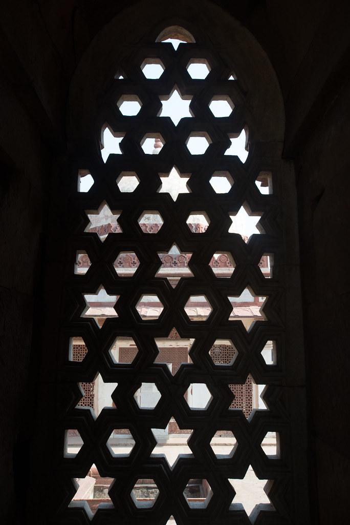 Ornate screen at the Qutb Minar complex