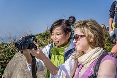 Girlz and cameras... (antwerpenR) Tags: china girls hk girl cn hongkong asia southeastasia meetup hiking hike girlz asean clearwaterbay diamondhill