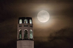 Moon Over Coit Tower (louisraphael) Tags: california city morning people usa topf25 architecture night america this am san francisco cityscape searchthebest fav50 you 10 flag united right delete save save2 fav20 youre american damn instant dare genius states arent judging fav30 success worthy superhot franisco supercool fav10 fav25 fav100 fav40 fav60 i fav90 fav80 fav70 superfave