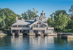 Waterfront House for the 1% (nfRabbit) Tags: house newyork buildings us unitedstates rivers thousandislands 1000islands stlawrenceriver alexandriabay