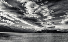 Harrison Lake, Echo Island (martincarlisle) Tags: sky sunlight canada mountains water clouds islands britishcolumbia lakes hills harrisonlake nwn harrisonhotsprings photoninja innamoramento niksoftware echoisland pentaxians tamronlenses pentaxart pentaxk5 silverefexii