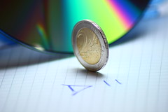 It's getting exciting... (Nathalie_Dsire) Tags: music money color colour macro colors closeup paper coin colours play euro cd disk disc eurovisionsongcontest esc eurovision