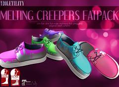 Violetility Melting Creepers (Violetility) Tags: shoes melting sl secondlife unisex dsf tdsf originalmesh darkstylefair