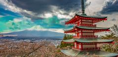 Mount Fuji (magiclaura) Tags: mountain japan asia mountfuji sakura vulcano 5dsr