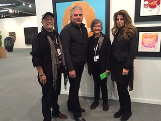 George Neary, Nick Korniloff, Liana Perez and Pamela Cohen at art new york