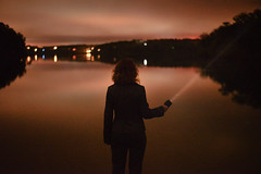 (Abigail Gorden) Tags: nightphotography portrait people lake selfportrait mystery night self landscape pond glow outdoor capecod portraiture mysterious wilderness selfexpression