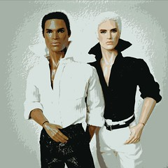 Posterize (Deejay Bafaroy) Tags: portrait white black male fashion toys power portrt lukas reid staying fr weiss schwarz royalty strategy homme maverick posterize integrity darius