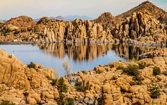 Mirror effect (Elespics) Tags: arizona lake nature landscape rocks watsonlake granitedells