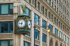 Chicago's Father Time Clock (Jerry Fornarotto) Tags: old city travel urban chicago building classic clock statue architecture vintage illinois time landmark numbers elgin wackerdrive fathertime symbolic grimreaper hourglass scythe numerals windycity jewelers timekeeper jewelersbuilding elginwatchcompany fathertimeclock jerryfornarotto